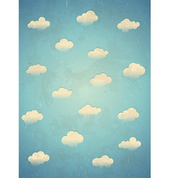 Clouds in the sky Vertical card vector image vector image