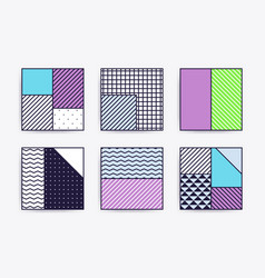 collection with trendy backgrounds vector image vector image