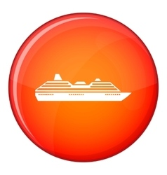 Cruise ship icon flat style vector