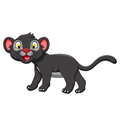 Cute black panther posing vector