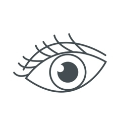 Eye with eyelashes icon vector