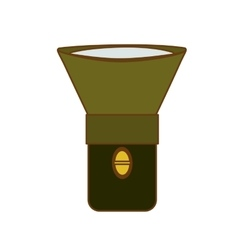 Flashlight or lantern icon image vector