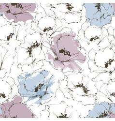 Floral background flower seamless pattern vector