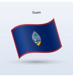 Guam flag waving form vector