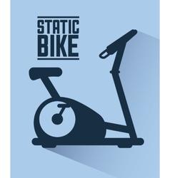 Gym label design vector