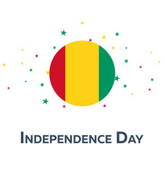 independence day of guinea patriotic banner vector image