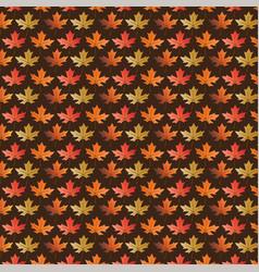 leaf pattern on brown vector image vector image