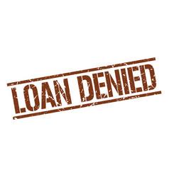 Loan denied stamp vector