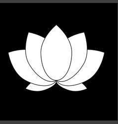 lotus icon vector image vector image