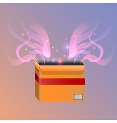 Magic box vector image