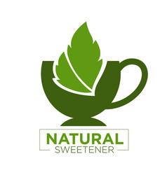 Natural sweetener logo vector
