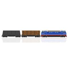 railway train 19 vector image vector image