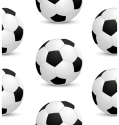 Seamless background with soccer ball vector image vector image
