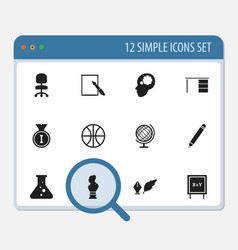 Set of 12 editable teach icons includes symbols vector