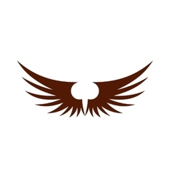 Two brown wing icon flat style vector image vector image