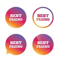 Best friend sign icon award symbol vector