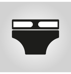 Diaper icon design nappy napkin underpants vector