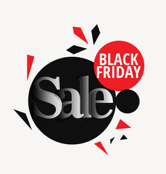 Stylish black friday sale design backgorund vector