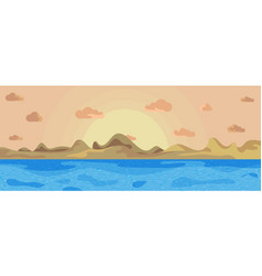 landscape beautiful sea on a background mountains vector image