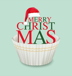 Cup cake christmas2 vector