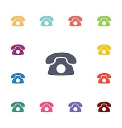 Phone flat icons set vector