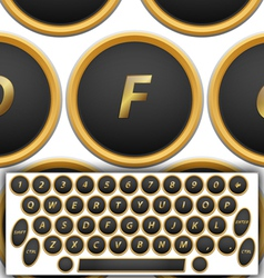 Qwerty buttons vector