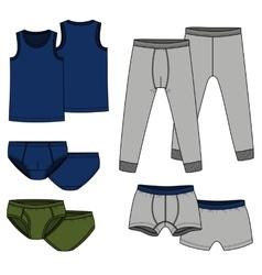 Pants briefs shirt - color vector