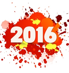 Happy new year celebration 2016 with colorful vector