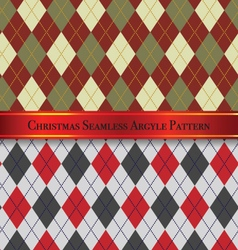 Christmas seamless argyle pattern design set 3 vector