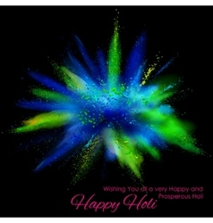 Powder color explosion for happy holi background vector