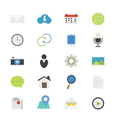 Internet web and mobile flat icons color vector