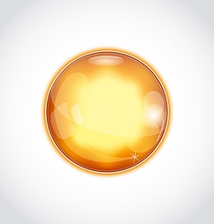Abstract glass sphere isolated on white vector image vector image