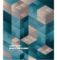 Abstract Isometric cube Background Business Design vector image vector image