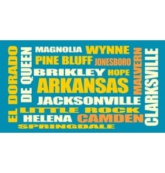 Arkansas state cities list vector