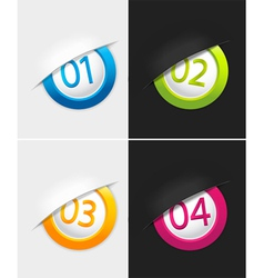 Badges with numbers vector image vector image