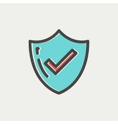 Bestseller guaranteed badge thin line icon vector