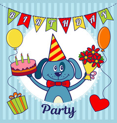 Birthday party invitation card or greeting card a vector