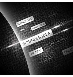BUSINESS IDEA vector image vector image