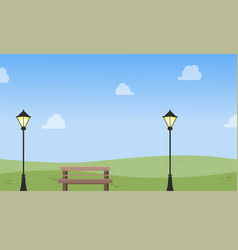 chair with lamp landscape vector image