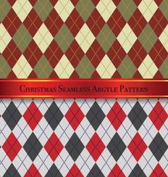 Christmas seamless argyle pattern design set 3 vector