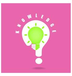 Creative light bulb symbol and question mark sign vector