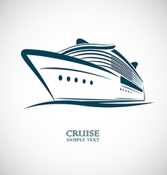 cruise vector image
