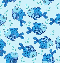cute fish pattern vector image vector image