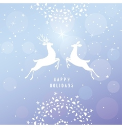 Deer blue background vector image vector image