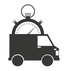 delivery truck van isolated icon vector image