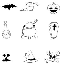 Doodle of halloween for kids vector