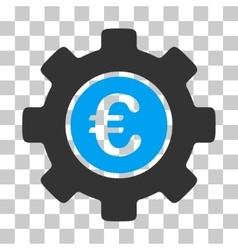 Euro development gear icon vector