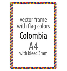 flag v12 colombia vector image vector image