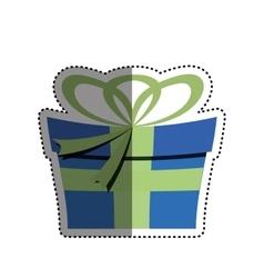 Gift present box vector