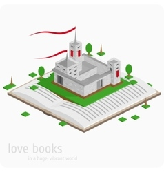 Lock on the open book vector